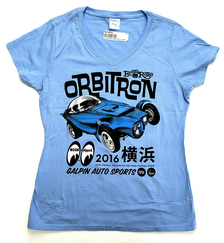 GAS Ladies Orbitron Moon Eyes V-Neck – Blue or White