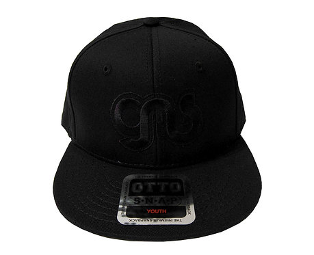 GAS Youth Snap Embriodered Black On Black