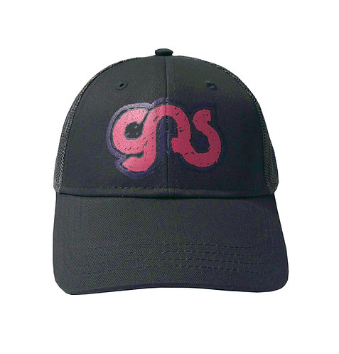 GAS Kids Trucker Hat Black Pink Logo