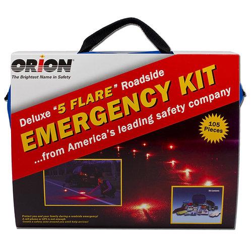 """Orion Deluxe Roadside Emergency Kit-105pcDeluxe """"5"""" flare roadside emergency kit"""