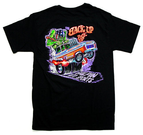 GAS Back Up Pick Up Truck Black Tee