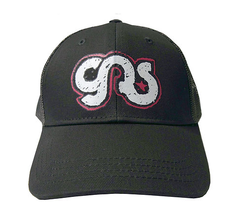 GAS Kids Trucker Hat Black White Logo