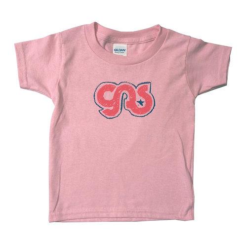 GAS Girls Kids Logo T- Shirt Pink on Pink