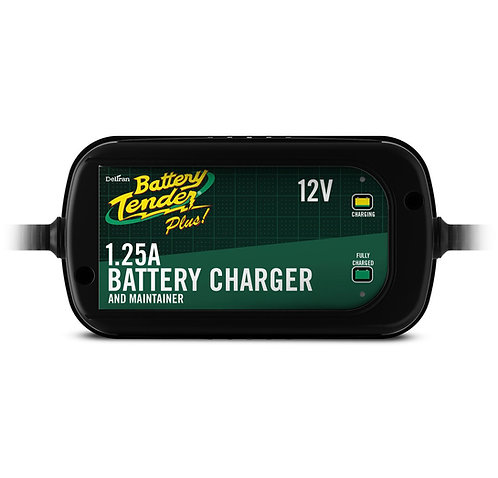 Battery Tender  Black 12 Volt 1.25 Amp Plus Battery Charger/Maintainer