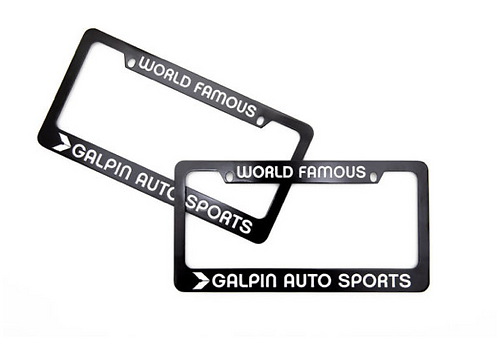 GAS Black License Plate Frame