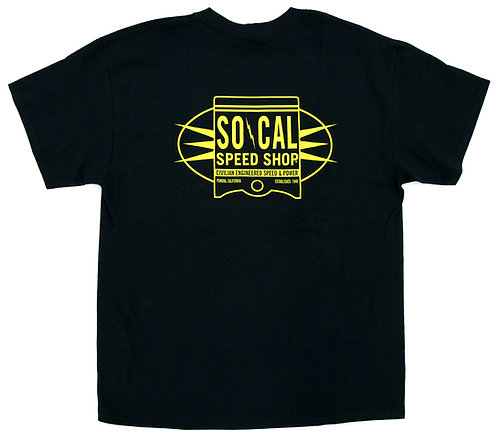 SO-CAL Speed Shop Oil Can Piston Short Sleeve T-Shirt