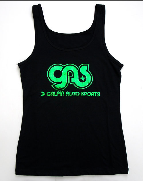 GAS Ladies Tank with Green Logo