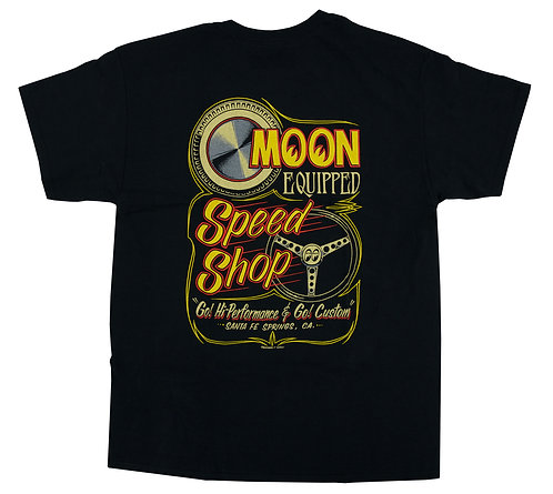 Mooneyes Moon Equipped Speed Shop T-shirt
