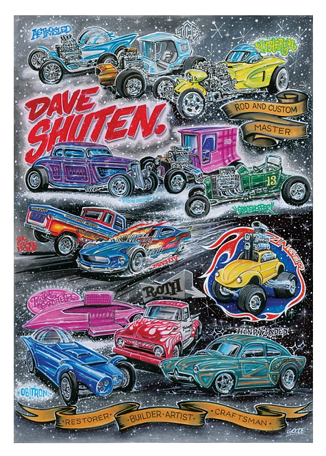 Styled By Shuten Collection of Cars by Dave Shuten. Artist Lee Goode