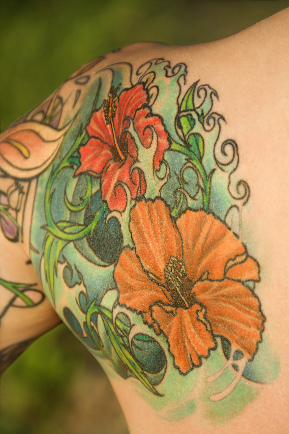 Spray Tanning is a safe tanning choice for tattoos
