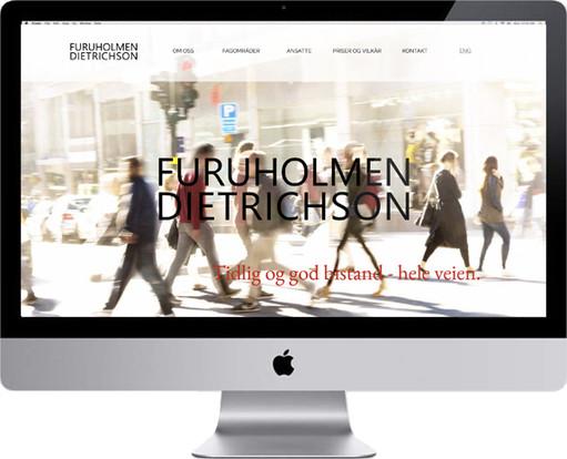Logo og nettsider for advokatfirmaet FURUHOLMEN DIETRICHSON