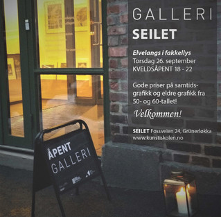 KVELDSÅPENT GALLERI 26. september