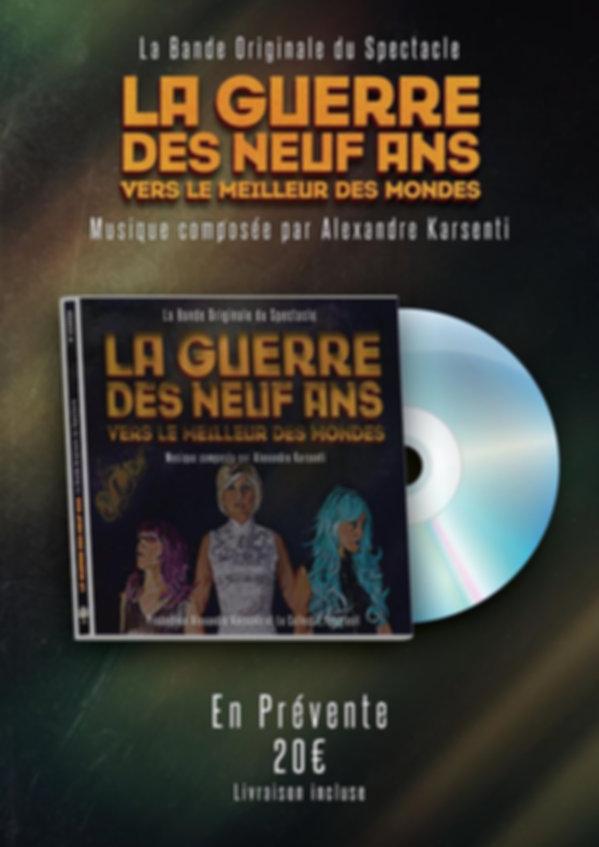 Album de la BO de la Guerre des neuf ans vers le meilleur des mondes, musique de film