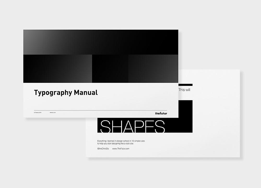 Futur typography guide