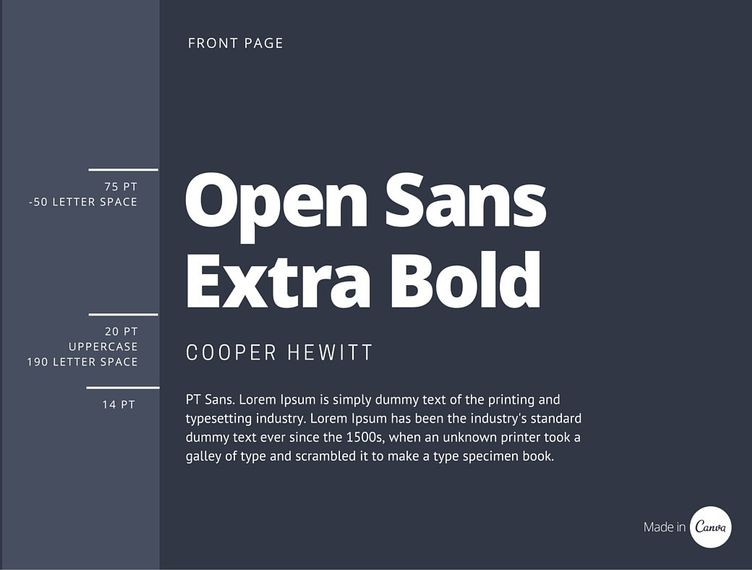 Canva's guide to font pairings