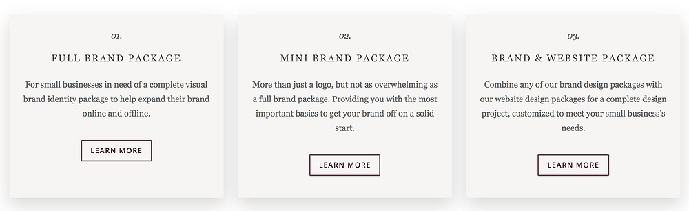 brand packages