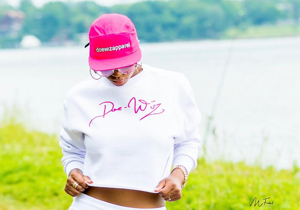 Doe Wiz Apparel Pink Cap&whiteSuit