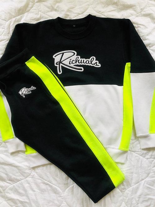 'Radiant Child' Color Block Sweatsuit