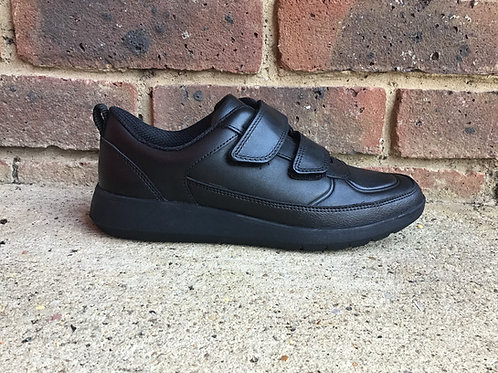 Clarks Scape Flare Kid Black Leather G and H Fit