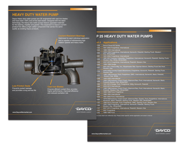 Heavy Duty Water Pump Flyer