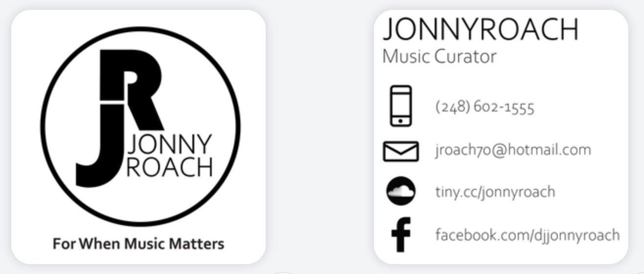 JonnyRoach Business Card Design