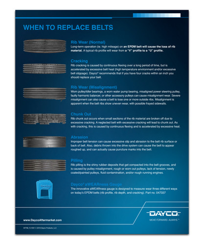 When to Replace Belts Flyer