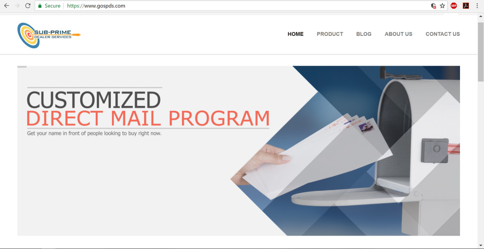 Customized Mail Web Banner