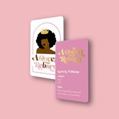 A Queen Reborn | Gold Foil Business Cards