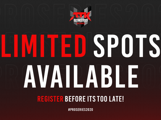 Spots for the Pro Series are filling up fast