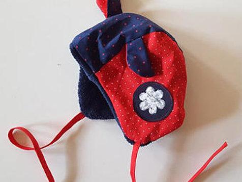 Bonnet béguin basic tampon fleur