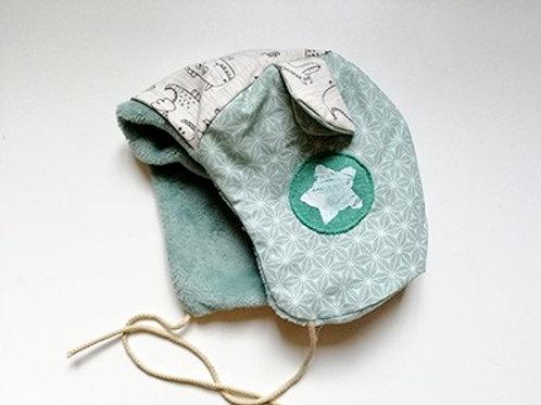 Bonnet béguin basic tampon étoile
