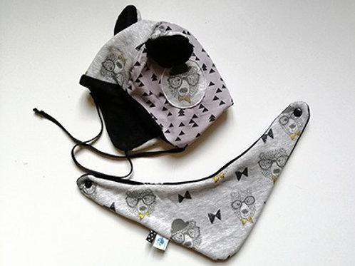 Duo bonnet béguin/bandana