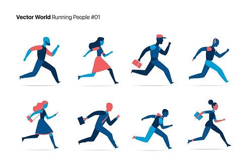 Vector World Running People 01