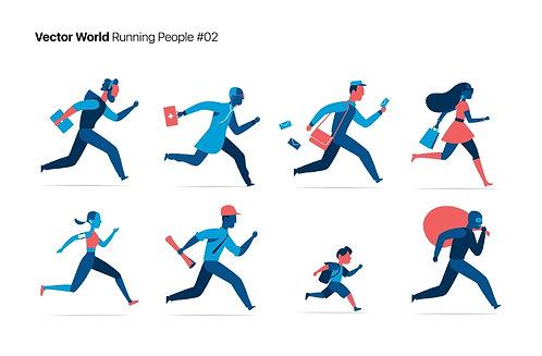 Vector World Running People 02