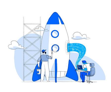 Digital Startup Rocket Launch