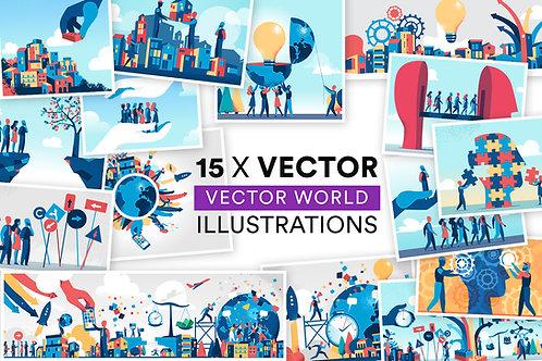 Vector World 15 Illustrations
