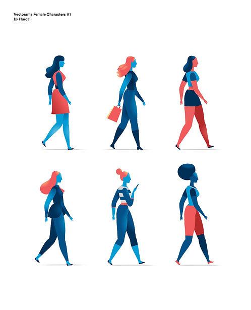 Vectorama Female Characters