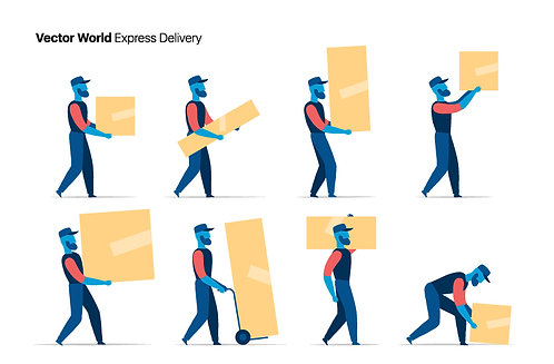 Vector World Express Delivery