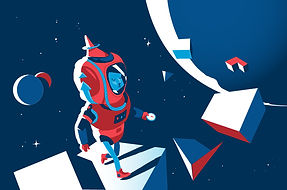 Space Explorer cool illustration by Hurca!
