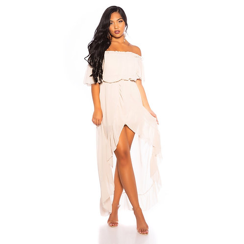 Vestido look de diosa asimétrico