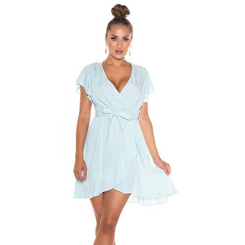 Vestido silueta semiamplia color baby blue