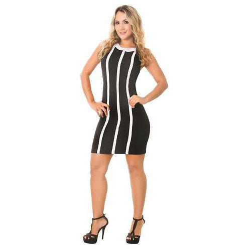 Vestido de lineas verticales