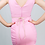 Thumbnail: Vestido rosa drapeado con cinturón