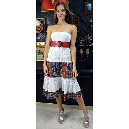 Vestido/Falda larga estampada tipo Ibiza