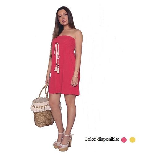 Vestido de silueta amplia strapless