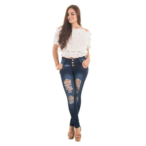 Jean push up con destroyed