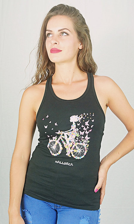 Camiseta manga sisa estampada bicicleta