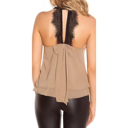 Blusa doble capa con encaje