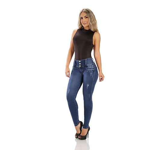 Jeans push up cintura alta