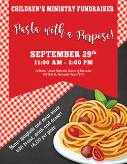 Pasta With A Purpose Event Flyer
